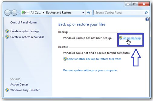 Backup your Windows 7