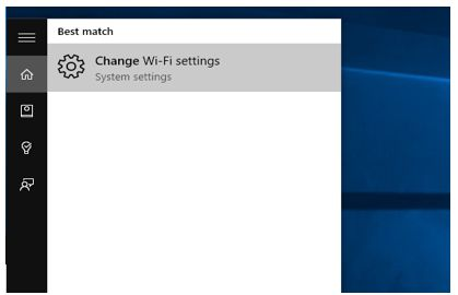 Change Wi-Fi Settings