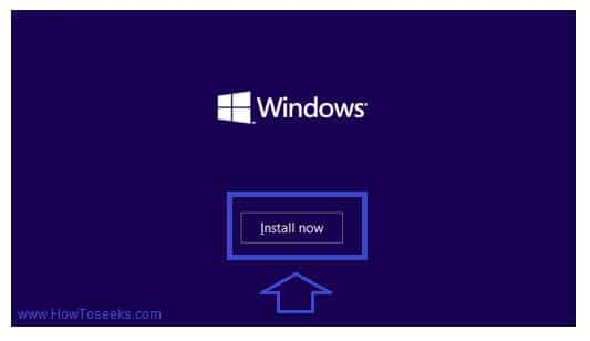 Windows 10 Installation step 2