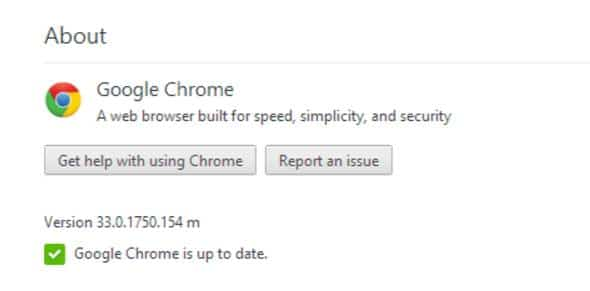 Updating Google Chrome Browser