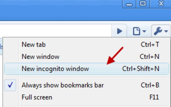 Use Chrome Incognito Mode