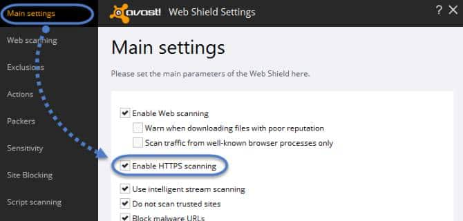 https scanning turned